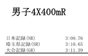 男子4×400R 記録
