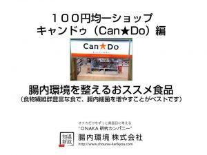 100円均一ショップキャンドゥ(Can★Do)腸内環境を整えるおススメ食品