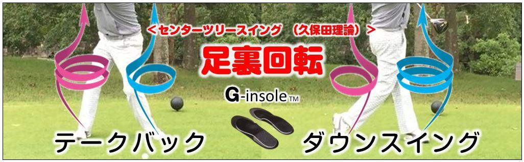 センターツリースイング (久保田理論)ゴルフスイング理論 Gインソール