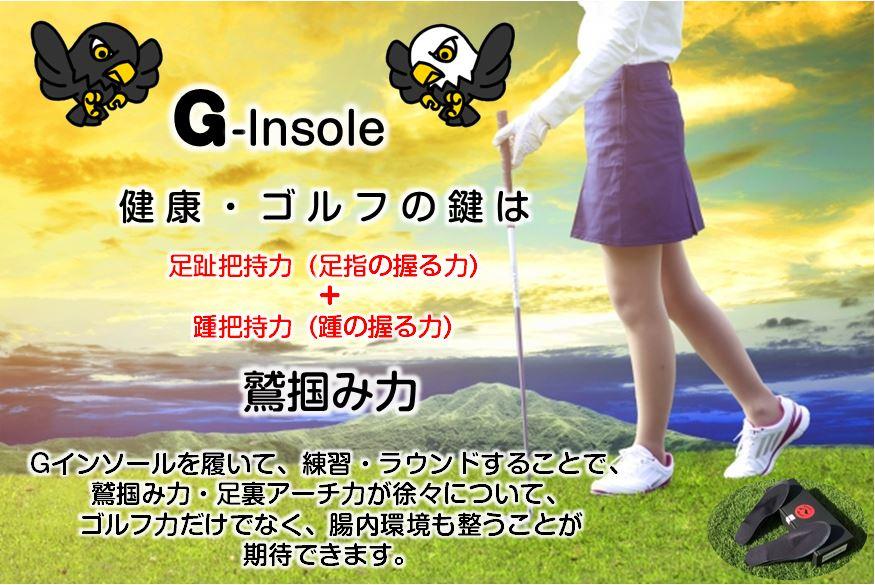 ジー(G)インソール、ゴルフ、健康