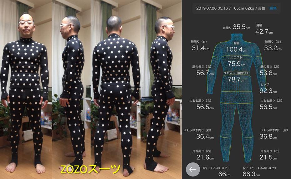 ZOZOスーツ計測数値