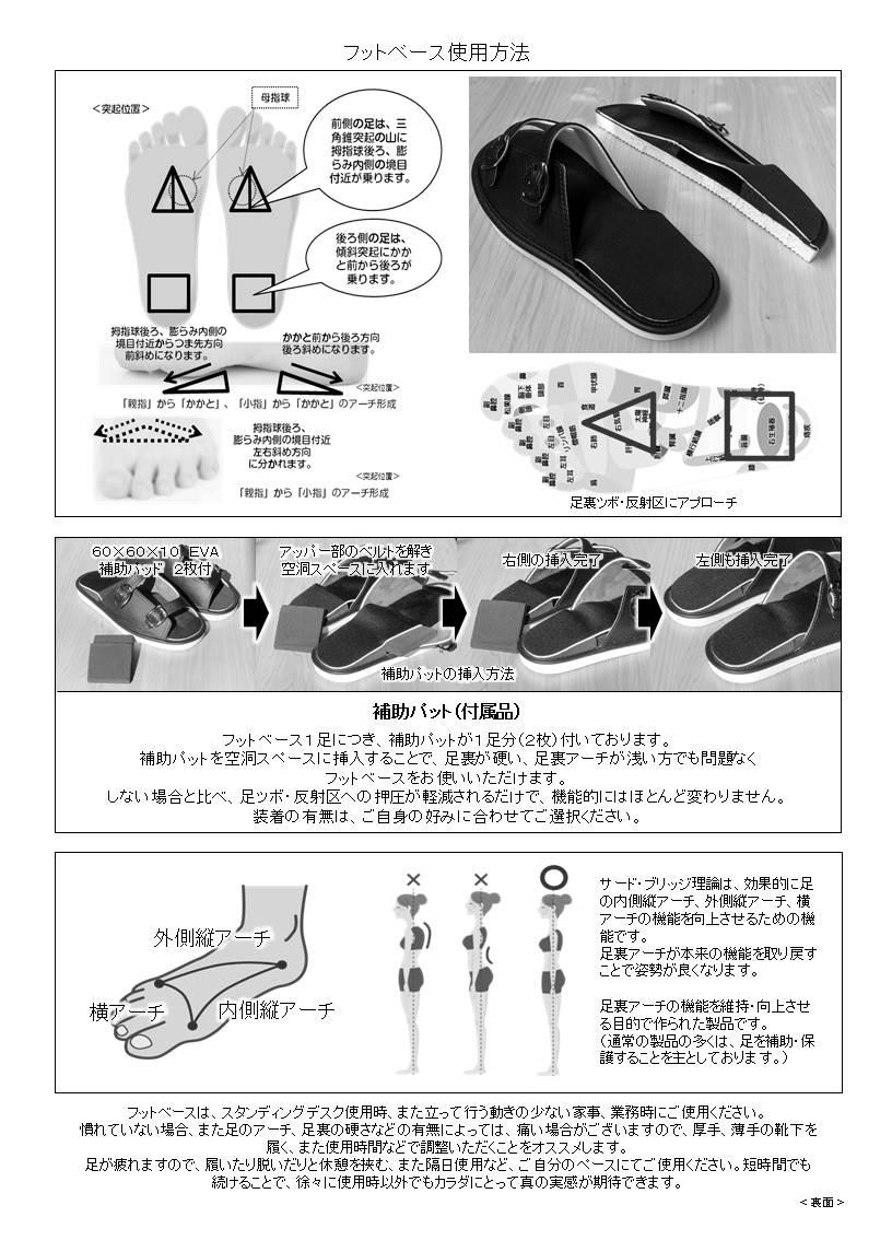 姿勢サポートフットウェア スタンディングデスク専用サンダル フットベース パンフレット