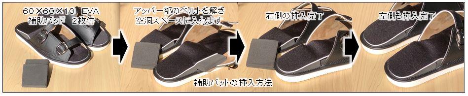 スタンディングデスク専用サンダル「フットベース」補助パッド