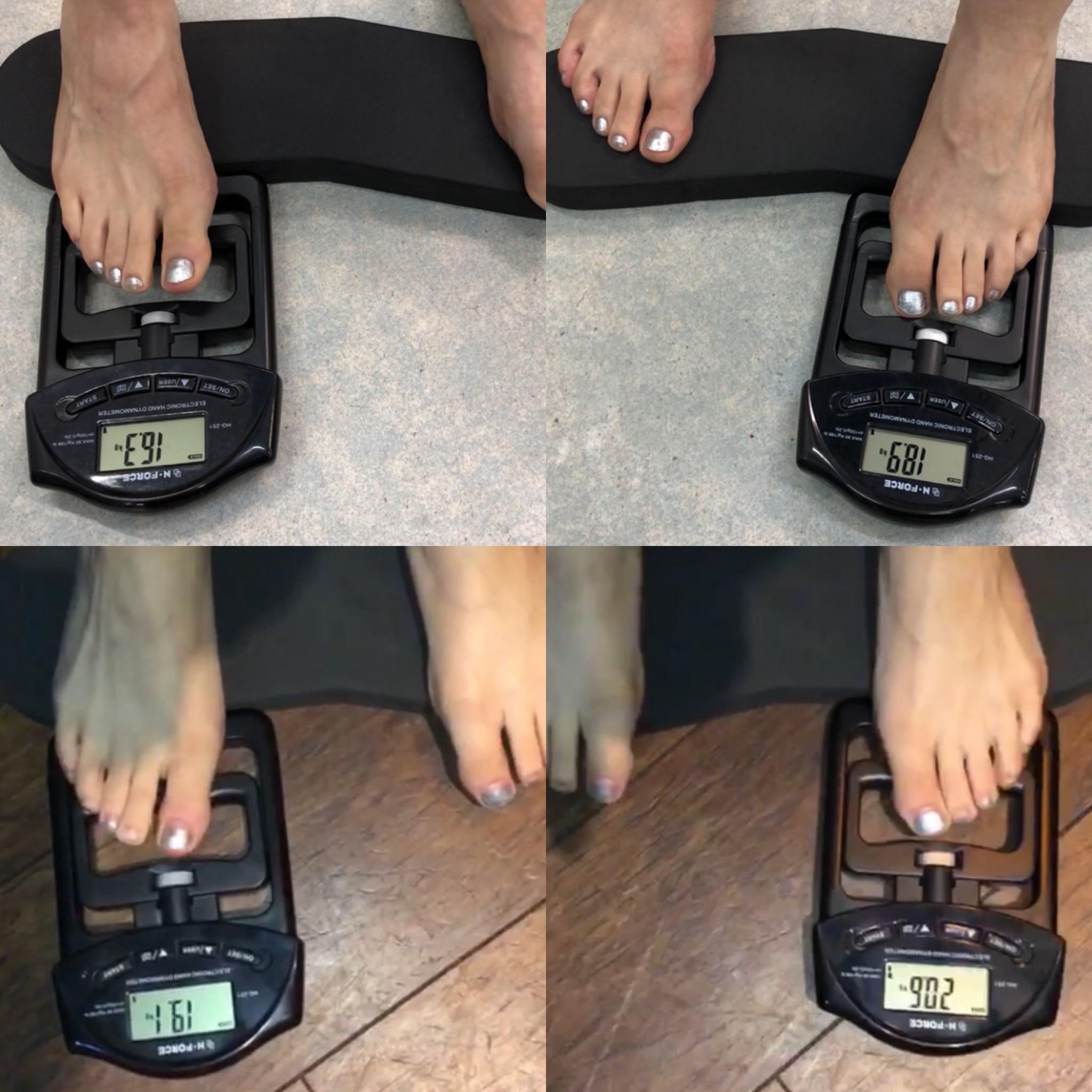 足趾把持力計測 変化