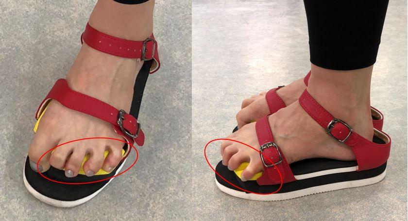 ワシーガトウズの特徴の一つである小趾把持力(足の小指握力)強化について