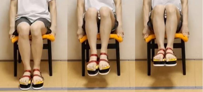 足指力(足趾把持力/足指握力)を利用した下腹部インナーマッスル強化方法